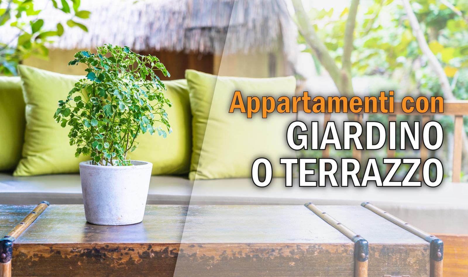 Selezione Appartamenti con Giardino o Terrazzo a Roma